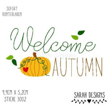 Stickdatei – Welcome Autumn 10×10