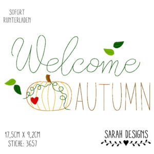 Stickdatei – Welcome Autumn 18×13