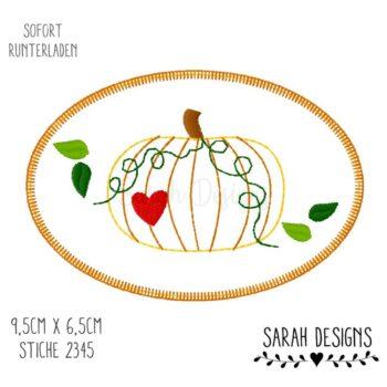 Stickdatei – Herbstlicher Kürbis 10×10