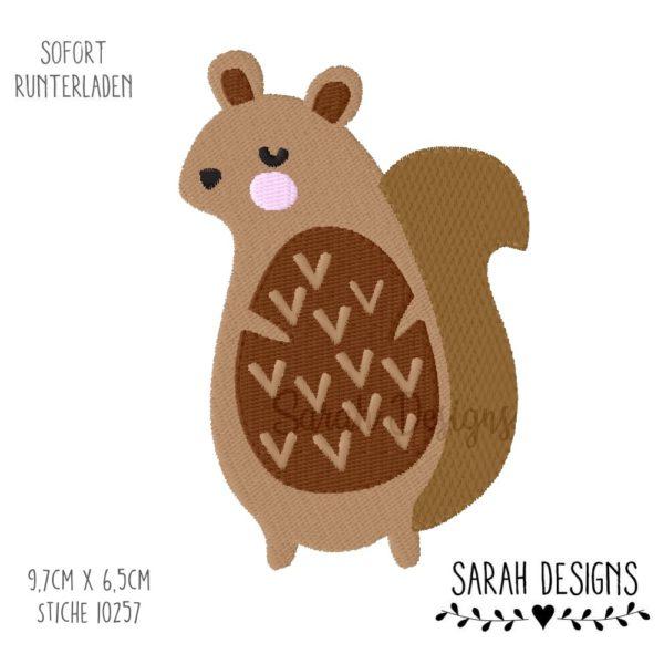 Erdnuesschen Bild Stickdatei Eichhörchen 10x10 Eichhörnchen zum arbeiten mit der Stickmaschine