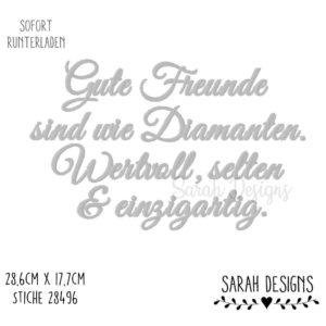 Stickdatei – Gute Freunde 30×20