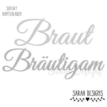 Stickdatei – Braut & Bräutigam 30×20