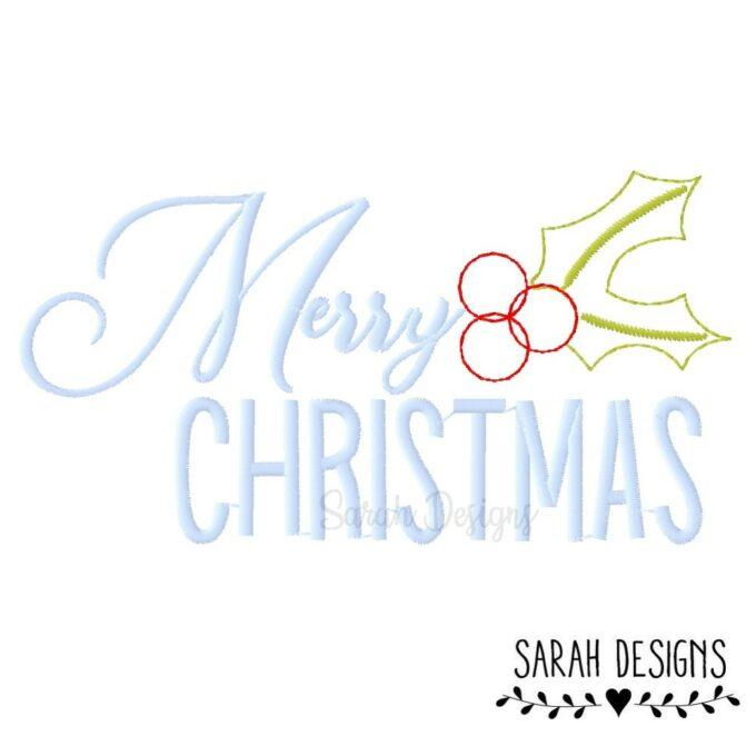 Stickdatei Nistelzweig Merry Christmas Weihnachten für deine Stickmaschine in vielen angespeicherten Formaten zum erstellen einer schönen Stickerei