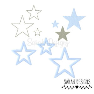 Stickdatei – Sterne 9Stk. 10×10 einzelne Dateien