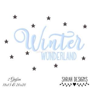Stickdatei – 2 Größen Winter Wunderland 18×13 & 20×20