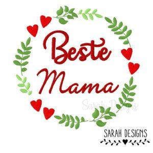 Stickdatei – Beste Mama 18×13