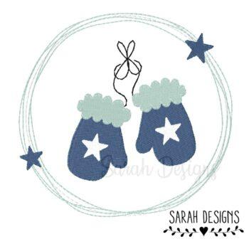 Stickdatei – Handschuhe Doodle Button 10×10