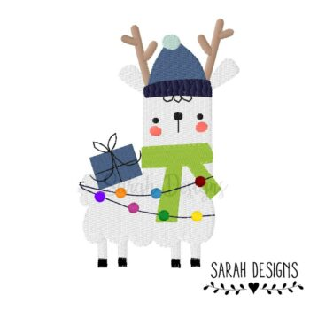 Stickdatei – Winter Lama Geschenk 18×13