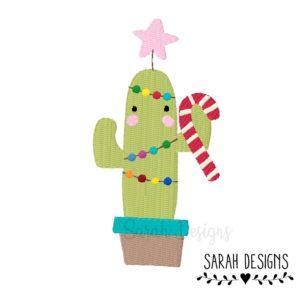 Stickdatei – Weihnachtlicher Kaktus 10×10
