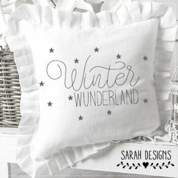 Stickdatei – 2 Größen Winter Wunderland 18×13 & 20×20 Doodle
