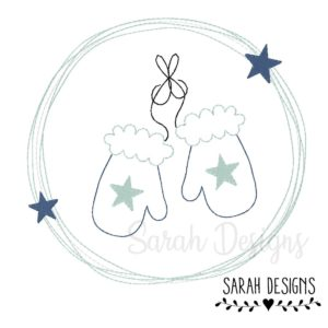 Stickdatei – Handschuhe Doodle Button 20×20