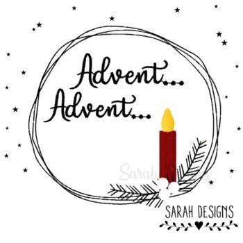 Stickdatei Advent Advent 10×10