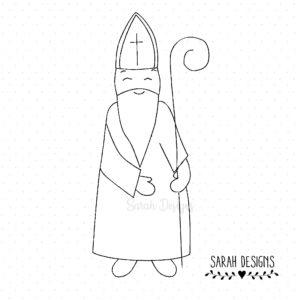 Stickdatei Nikolaus – Bischof 18×13