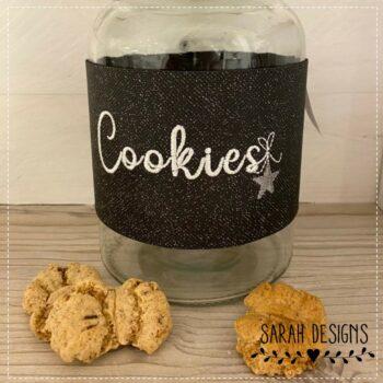 Stickdatei Schriftzug Cookies 10×10