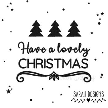 Stickdatei Have a lovely Christmas 10×10