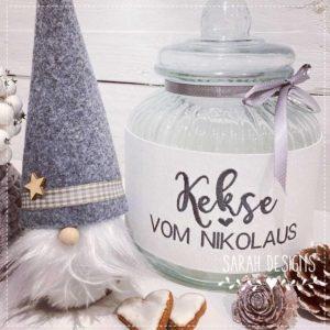 Stickdatei – Kekse vom Nikolaus 18×13