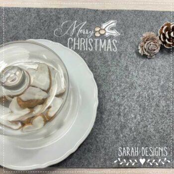 Stickdatei – Merry Christmas Mistelzweig 18×13