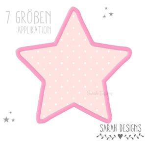 Stickdatei – Applikation Sterne – 7 Größen