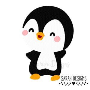 Stickdatei glücklicher Pinguin 10×10