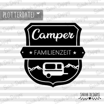 Plotterdatei Camper Familienzeit