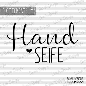 Plotterdatei  Handseife ♥