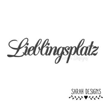 Stickdatei Lieblingsplatz 18×13