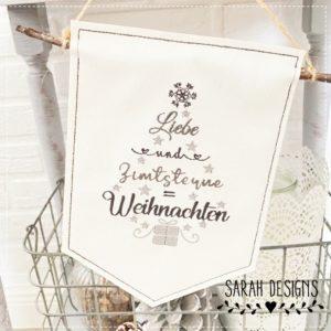 Stickdatei  Liebe und Zimtsterne 18×13