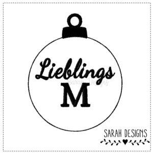 Stickdatei ITH Weihnachtskugel Lieblings M  10×10