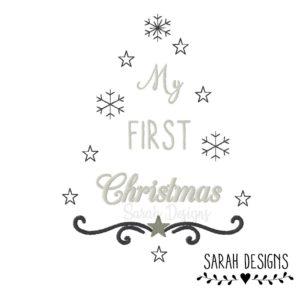 Stickdatei My first Christmas  18×13