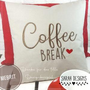 Stickdatei – Coffee BREAK – 5 GRÖßEN
