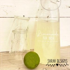 Plotterdatei Limonade für Dich