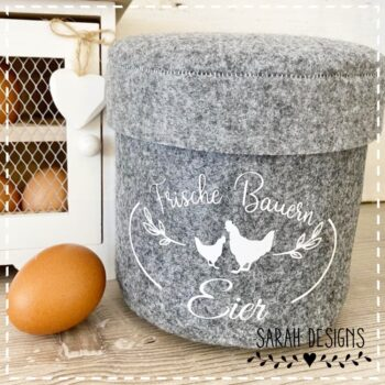 Plotterdatei Frische Bauern Eier