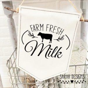 Plotterdatei Farm Fresh Milk