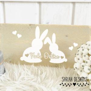 Plotterdatei Frohe Ostern Hasenpaar