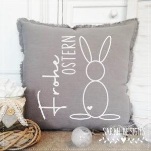 Plotterdatei Frohe Ostern – Hase aus ovalen Elementen