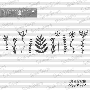 Plotterdatei Rahmenblumen – Blumenwiese