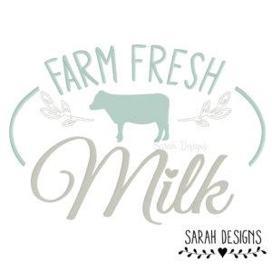Stickdatei 5 Größen –  Farm Fresh Milk 10×10 – 26×16