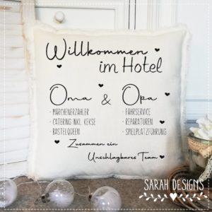Plotterdatei Willkommen im Hotel – Oma & Opa