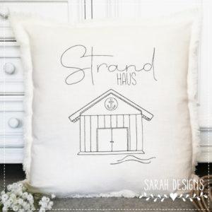 Stickdatei – Strandhaus 3 Größen
