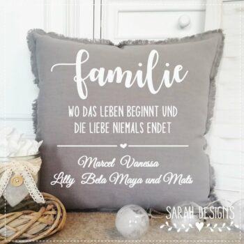 Plotterdatei personalisiert – FAMILIE