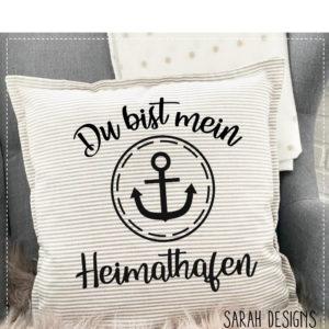 Plotterdatei Heimathafen Anker Maritimes Schild Du bist mein Anker2