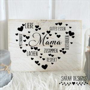 Plotterdatei Mama – Herz