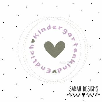 Stickdatei Endlich Kindergartenkind 10×10