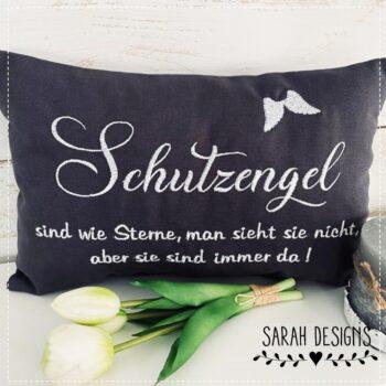 Stickdatei – ITH Kissen Schutzengel – 30×20