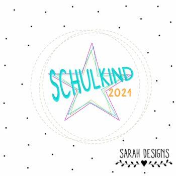 Stickdatei Schulkind 2021 18×13