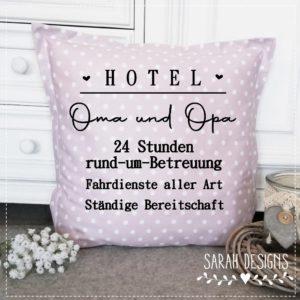 Plotterdatei Hotel – Oma & Opa