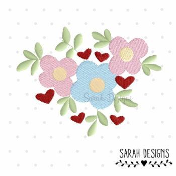 Stickdatei Blumen 10×10