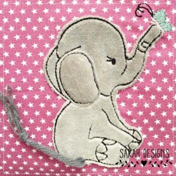Stickdatei Doodle Elefant – 10×10