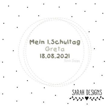 Stickdatei Wunschname und Datum 10×10