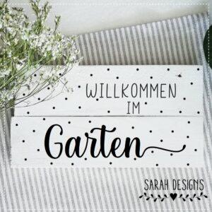 Plotterdatei Willkommen im Garten
